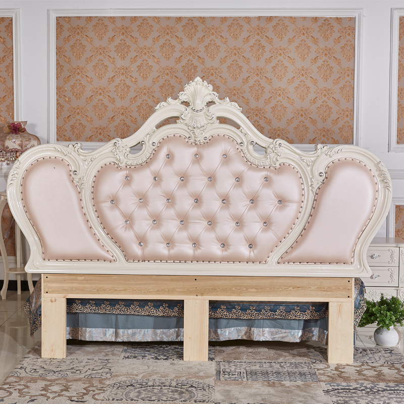 Shipping the headboard of modern European style bed back 2 meters marriage bed double leather upholstered headboard Princess