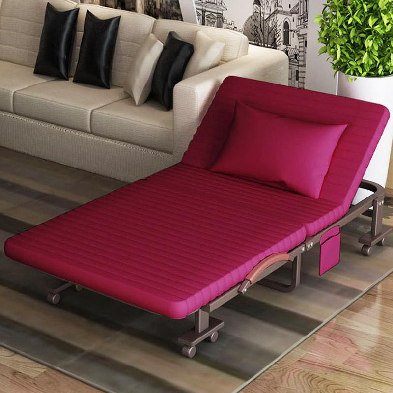 Solo una cama plegable adultos cama para dormir en la cama de 1,2 metros de la Oficina de cama de campaña silla portátil