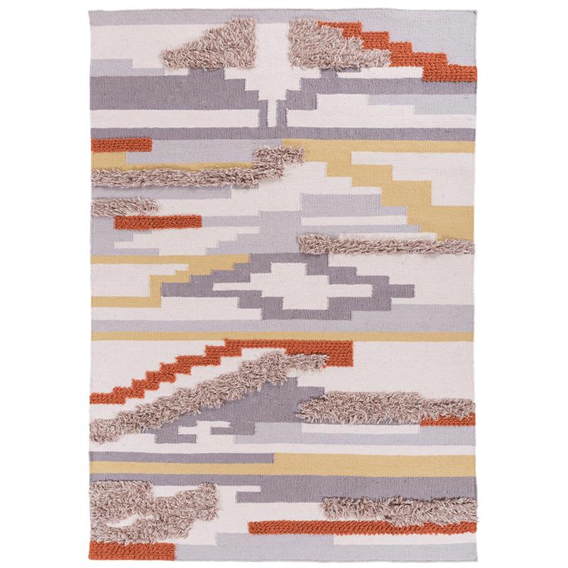 インドの輸入現代の簡約じゅうたんの客間の北欧はすでに立体幾何学は手にして手仕事の羊毛の羊毛をつなぎ合わせしました