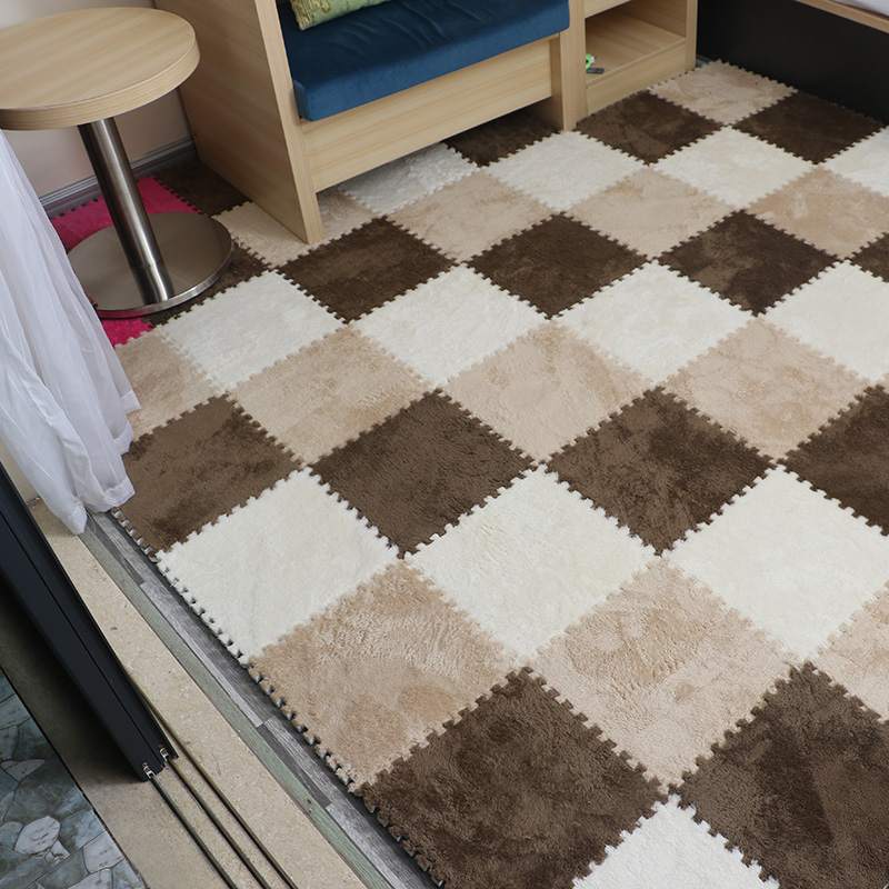 The bedroom carpet covered with tatami mats suede stitching bedside puzzle thickened Moisture Wash household