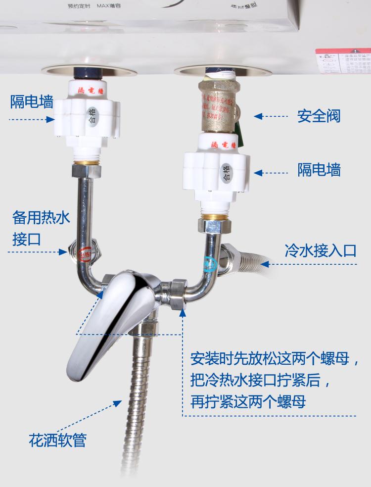 Calentador eléctrico de agua de la mezcla con el cobre colgando de un hogar lleno de u interruptor doble control de la ducha de agua fría y caliente