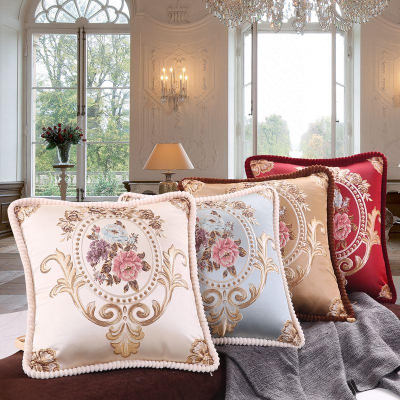 レトロをくわえない芯でエレガントなヨーロッパの刺繍枕を抱いて庁ソファーベッドマット枕枕カバー客で家庭用綿