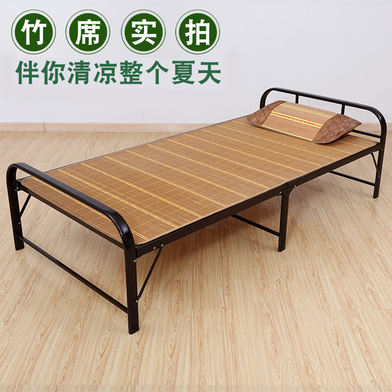 La cama de madera maciza, solo una simple cama plegable adultos dormir en la cama, una cama de madera con espacio de oficina dormitorio