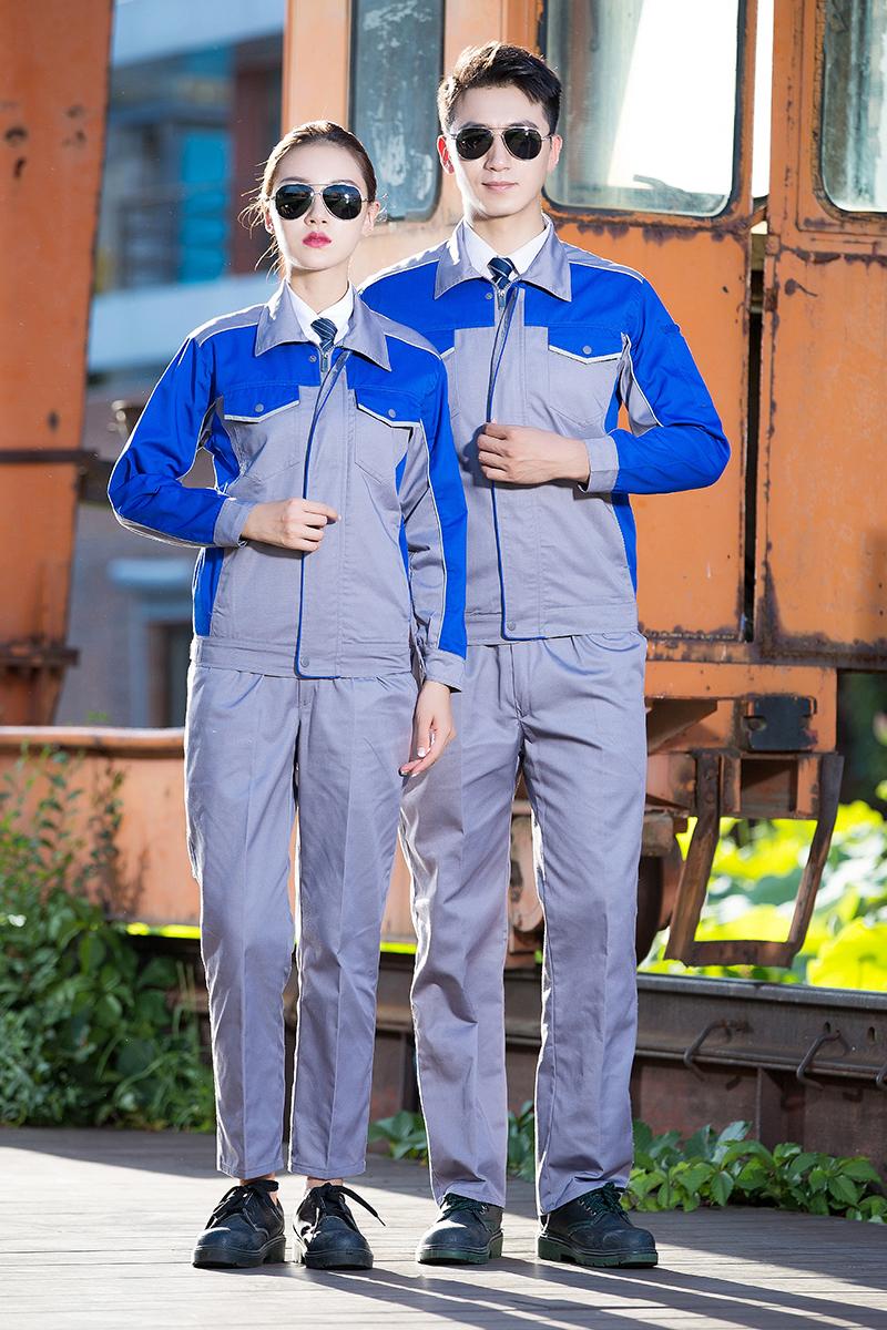 春秋仕事着スーツ男で工場の工場服自動車修理整備労働保険事務服建築工装労働者の作業服