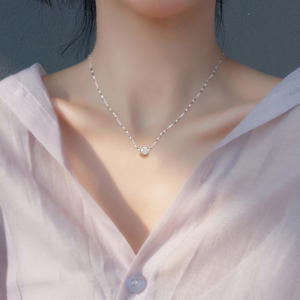 韩版时尚个性转运珠项链女吊坠学生简约锁骨链首饰生日礼物送女友
