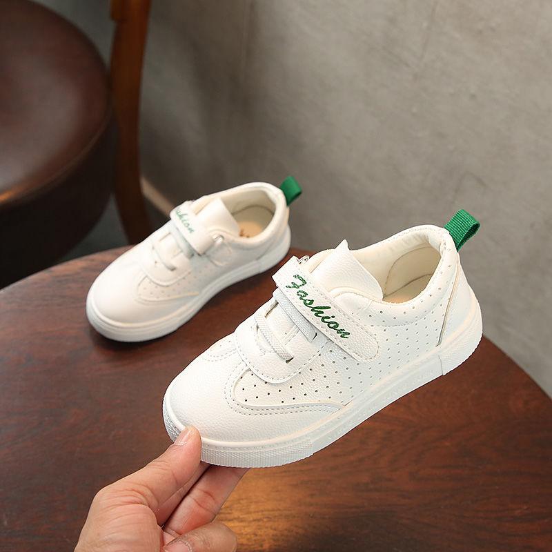 2020新款儿童帆布鞋男童女童小白鞋套脚韩版休闲鞋春秋宝宝饼干鞋