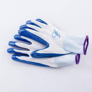 带胶橡胶工地胶手套加厚胶皮工作劳保