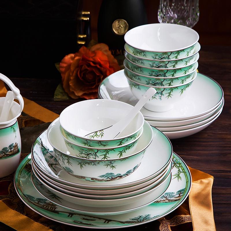 West Lake Hangzhou G20 household tableware tableware feast dishes gifts Jingdezhen bone china dishes
