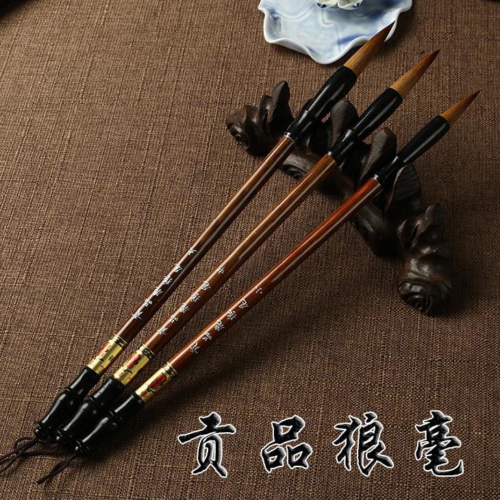 Spazzola, spazzola di Medie e Grandi dimensioni rivestiti di pecore 兼毫 Lupo alla pratica degli studenti principianti strumento calligrafia cinese.
