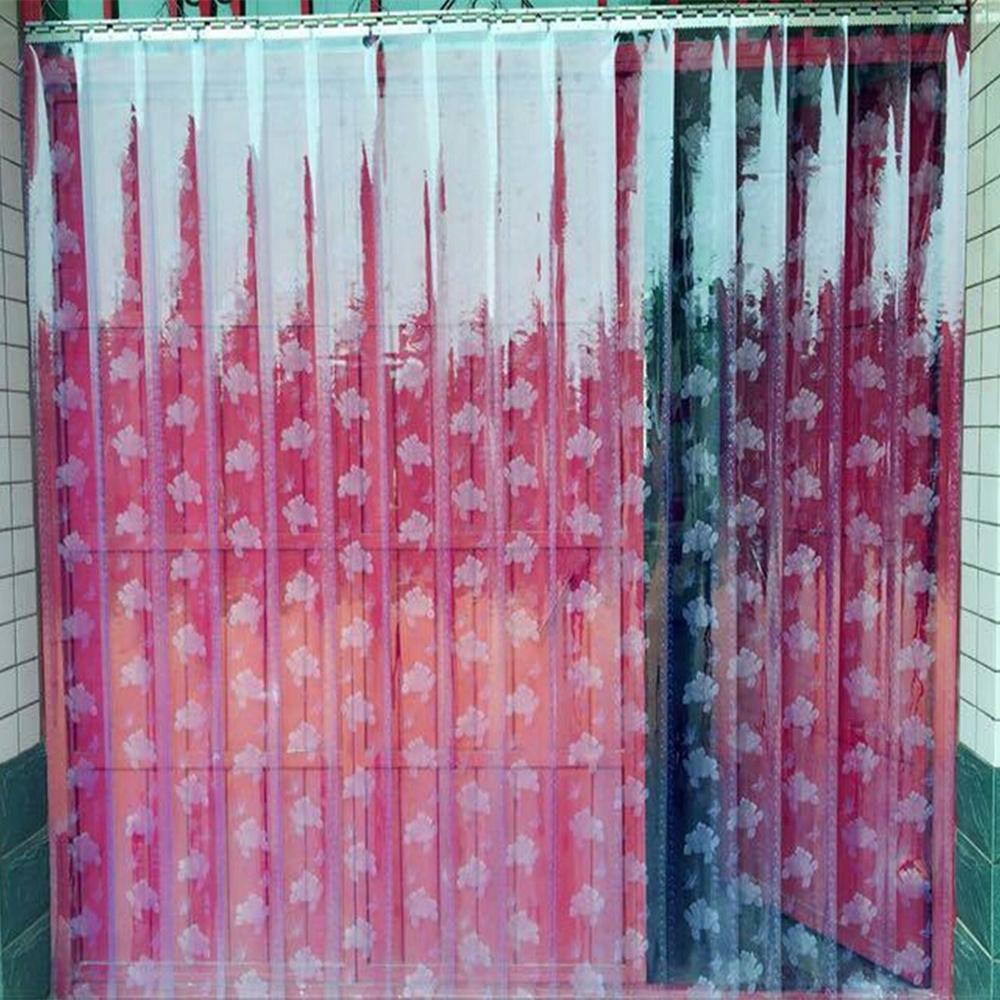 Cortina de PVC macio transparente Cortina de porta - A - porta divisória de isolamento de ar condicionado