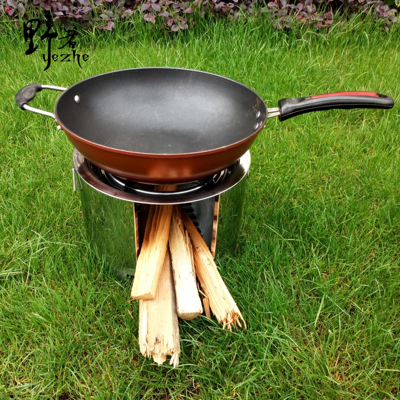 открытый дрова в печи плита, печь печь барбекю поход сжигания бытовых дрова рубить дрова переносные печи