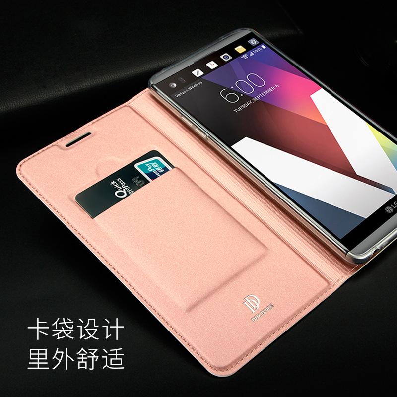 Το νέο σημείο LG V20 V30 κινητό τηλέφωνο κέλυφος F800 κινητό τηλέφωνο προστατευτικό κάλυμμα G6 Q6 flip λεπτή δερμάτινη θήκη