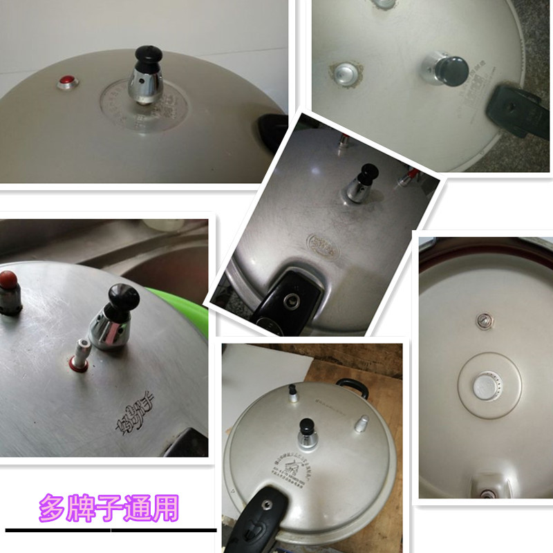 Pressure cooker fittings, pressure relief valve, steam valve, exhaust valve, safety valve, pressure limiting valve assembly