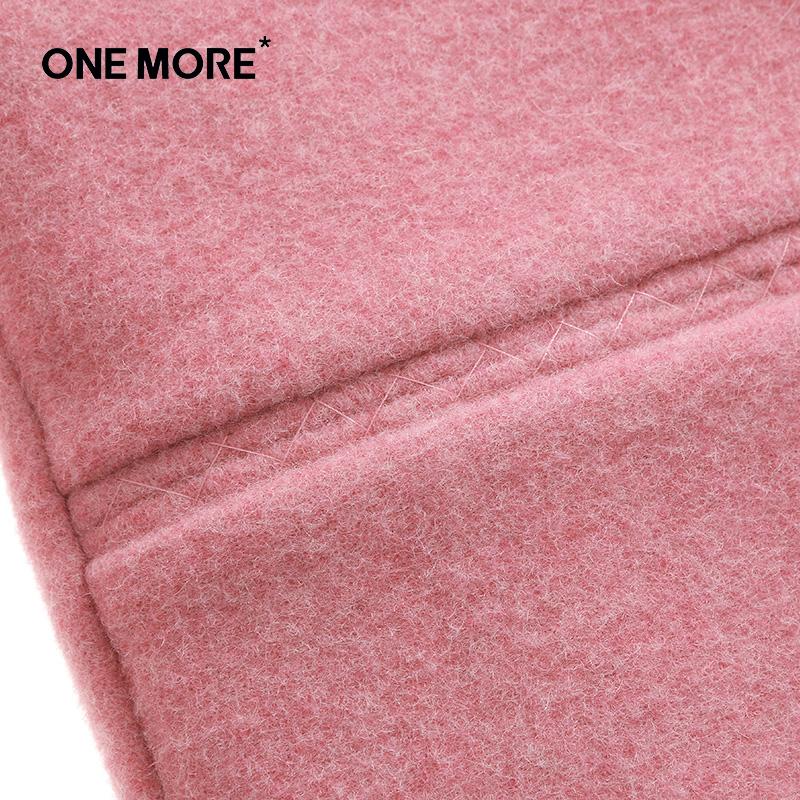 ONEMORE еднакъв цвят мастило - вълнени палта женски розова коса в параграф дълго палто?