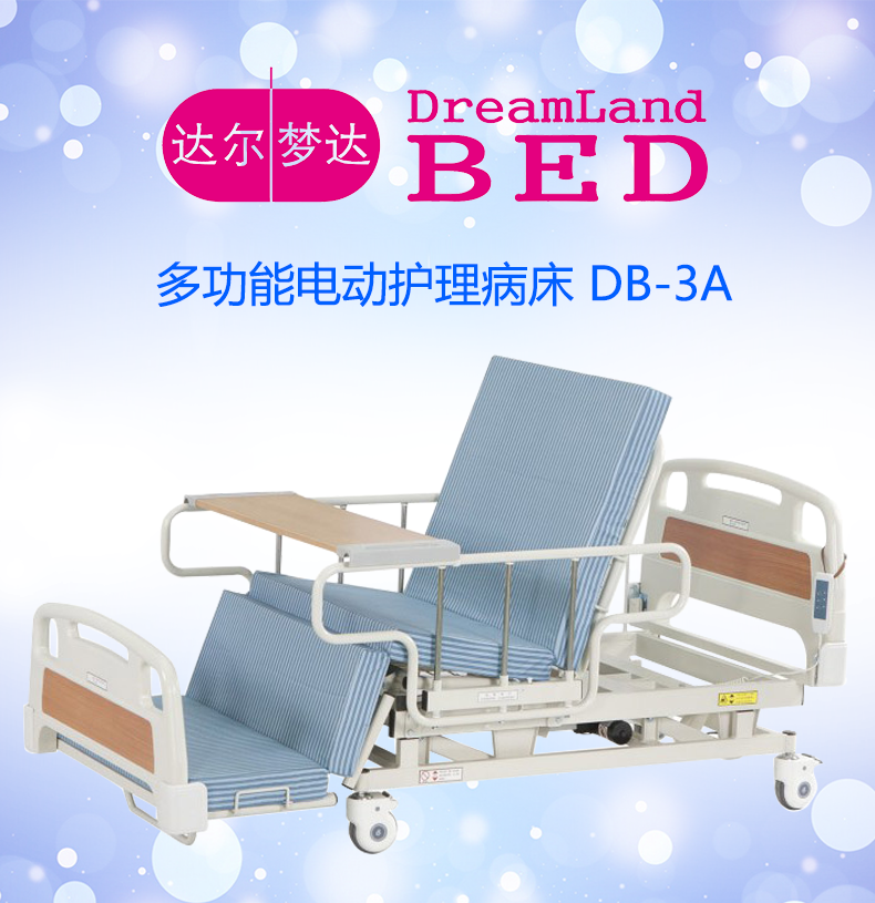 Da Lengda DB-3A electric nursing bed Home multi-functional old bed Wheelchair bed