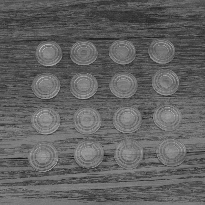 Glass coffee table gasket, washer, antiskid particle table, tabletop fixed small mat, soft rubber pad, sucker, steel pad