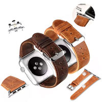 Applicable to Apple watch strap, leather apple, watch leather strap, Iwatch leather strap