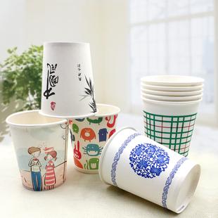 兰月星500只纸杯一次性杯子整箱包邮加厚广告纸杯定做印logo
