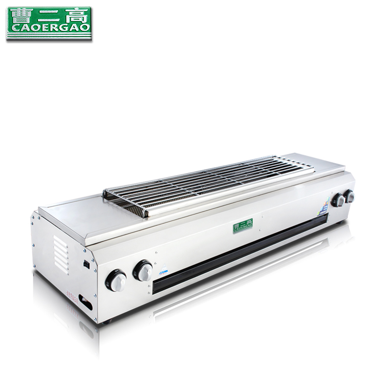 204 commercial gas grill gas smokeless oven baked oysters Mutton Cubes Roasted on a Skewer liquefied gas stove