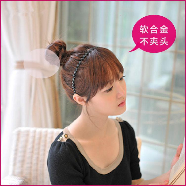 Com o rosto autêntico coreano star n. por Volta de ondas de pressão flexível de cabelo aro cabelo unissex