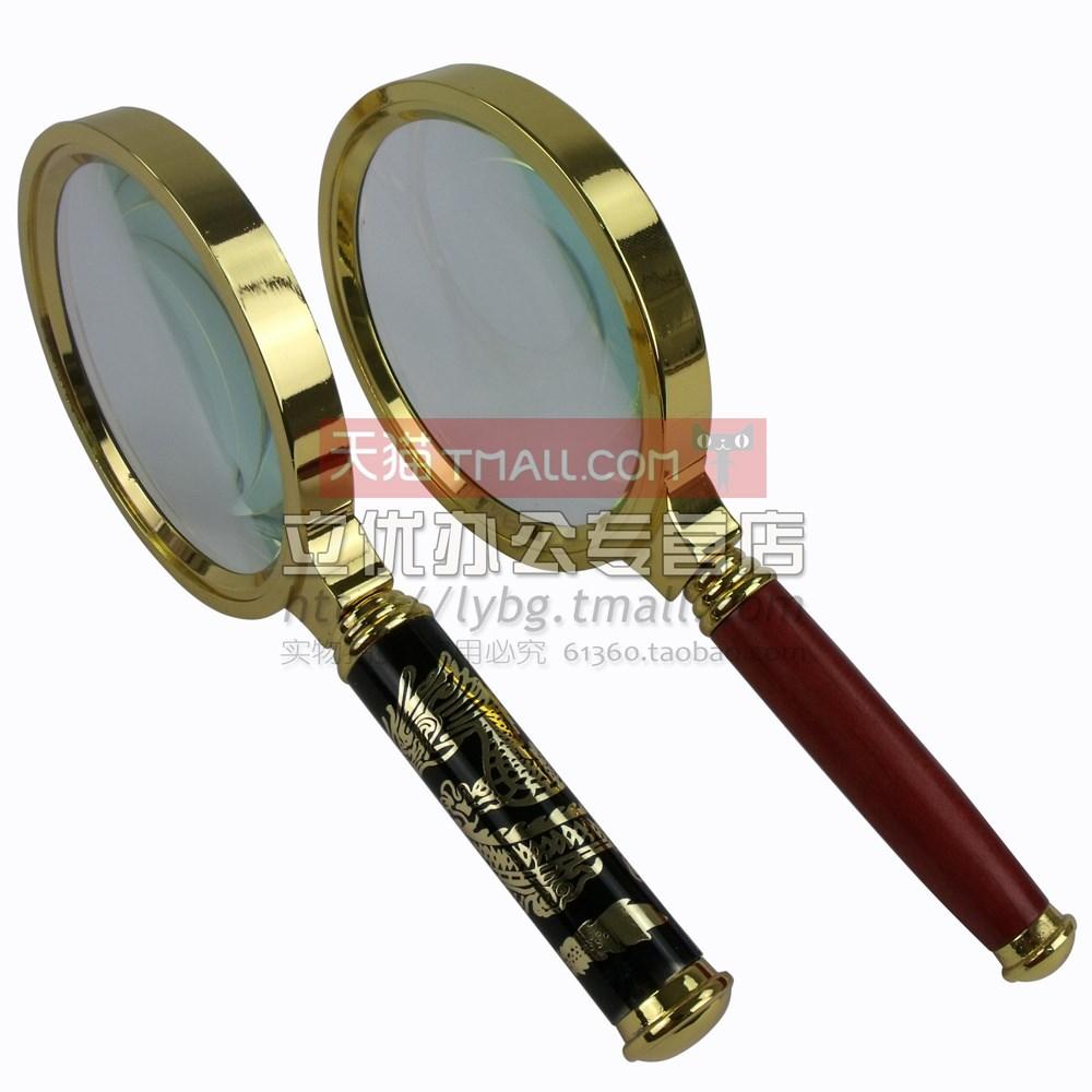 La ampliación de la lupa de mano de 10 veces la lectura de lentes de vidrio viejo lupa edad 80MM portátil