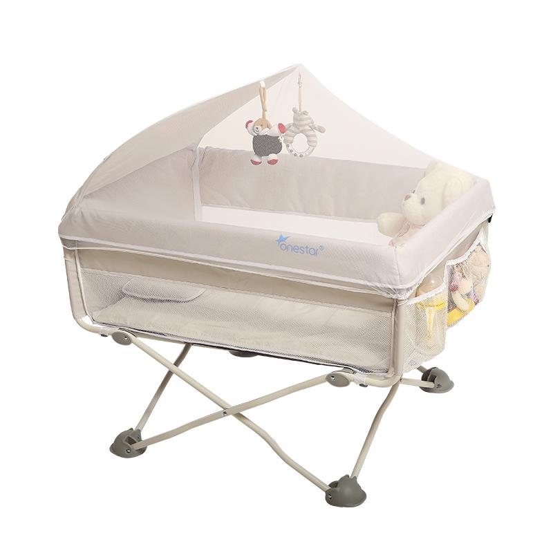φορητό νεογέννητο βρέφος κρεβάτι πολυλειτουργική πτυσσόμενο κρεβάτι με μικρό κρεβάτι ββ με κουνουπιέρα κρεβάτι δίπλα στο κρεβάτι.