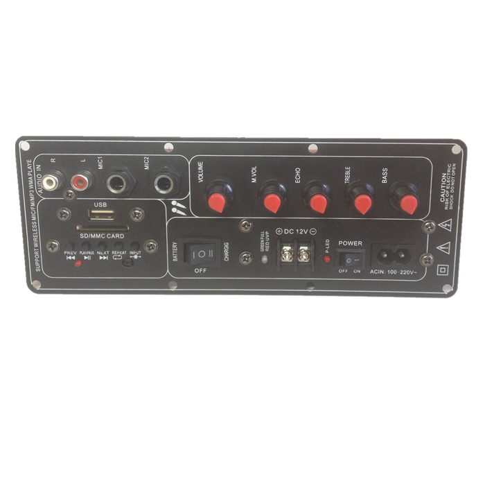 du 605BT batteri audio magt forstærker bord 12v square dans - bord 220v karaoke træk ke rubrik bord