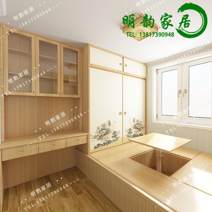 Shanghai custom tatami platform full house custom furniture overall study bedroom combined tatami bed