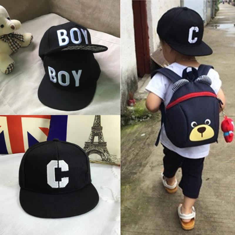 儿童街舞嘻哈棒球帽子男童女童男孩宝宝韩版时尚潮小孩百搭鸭舌帽