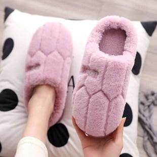 居家日用棉拖鞋秋冬季家用室内防滑厚底情侣