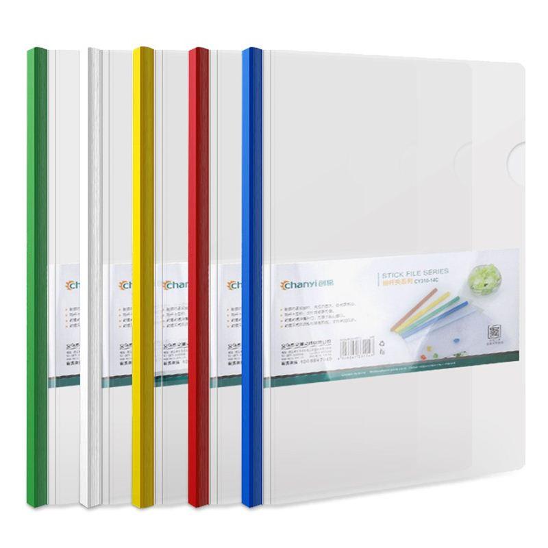 La Oficina de bisagra clip con un libro de una sola capa de plástico del Concilio de la bolsa transparente de carpetas es fácil