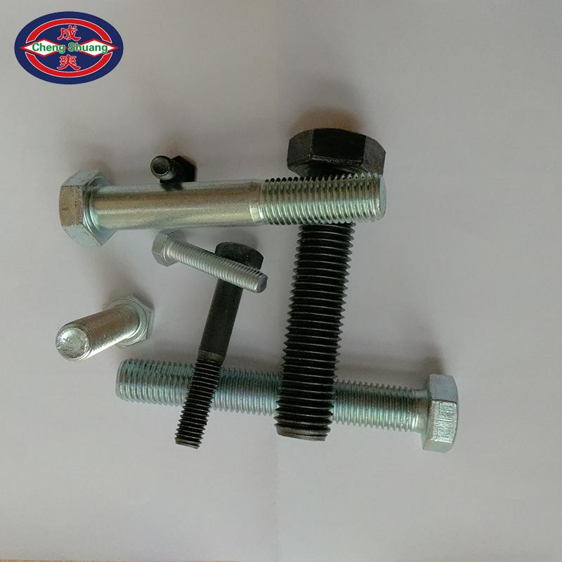 10.9 grade external six corner bolt / screw (full tooth / half tooth / Black / Galvanized) M12/M16 can be customized
