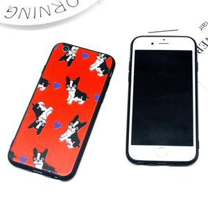 法斗韩国斗牛犬iphonex手机壳6s全包硅胶7plus卡通情侣苹果8软壳