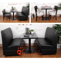Foshan custom restaurant sofa cafe chairs buppee art sofa combination double deck wood against the wall