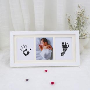新生儿墨水手脚印小脚丫足印宝宝手印婴儿周岁满月生日礼品纪念