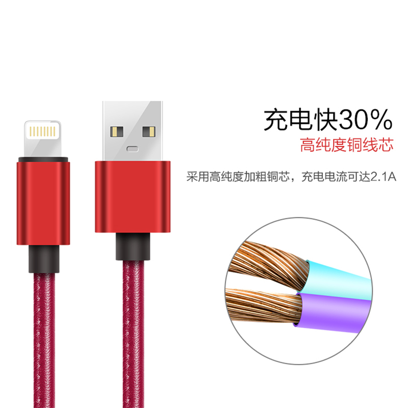 IPhone6 data line 6S Apple 5 lengthened single head 5S mobile phone i6Plus six 7P five iPad charging wire iP