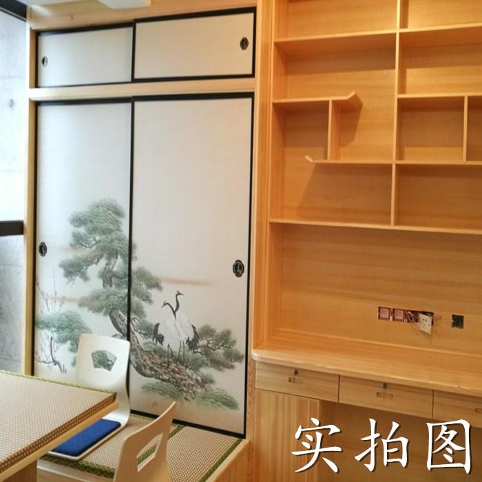 Shanghai's boat full house custom furniture wood tatami platform wardrobe bookcase multifunctional bed door window