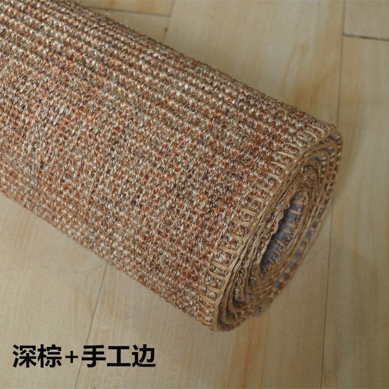 Handmade costura mesa tapete Piaochuang Tapetes de Sala quarto Casa de palha sisal tatami tapete personalizado