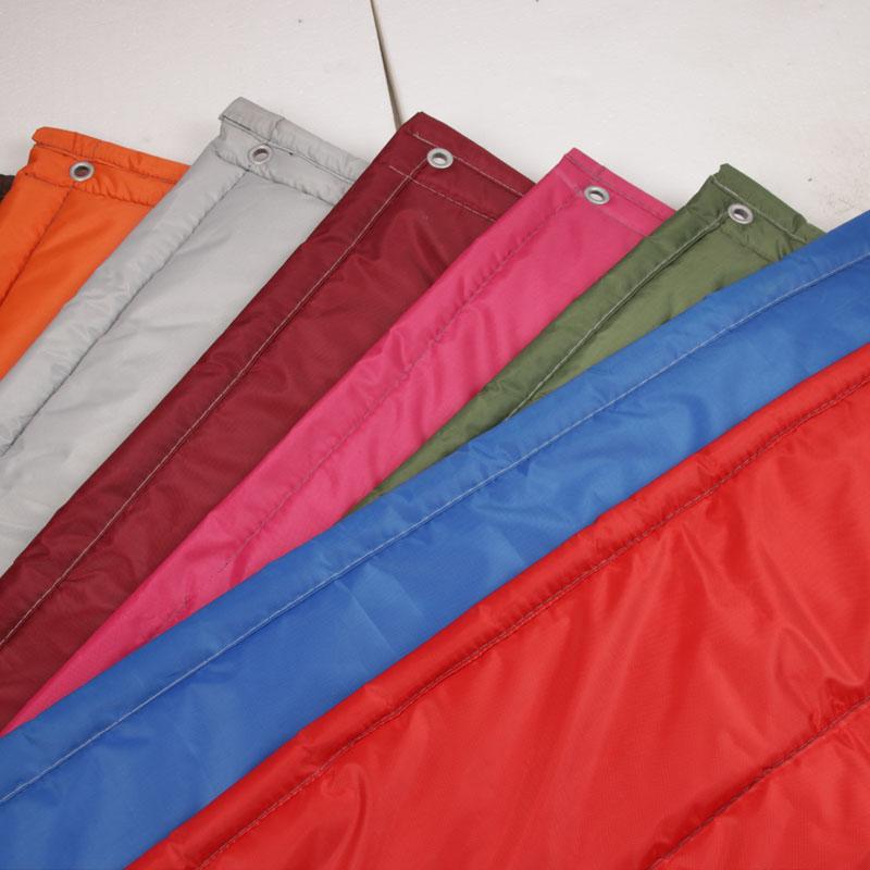 по поръчка на непрозрачен водоустойчив звукоизолирана климатик памук завеса кожени изолация на предното домакински студено вятър за разделяне.