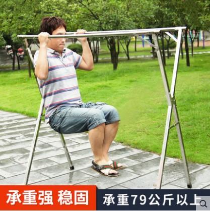 Verdickte balkon - doppel - pole kleiderständer hängen die Aufhebung der schrumpfung auf Edelstahl - Rad - bügel mobile