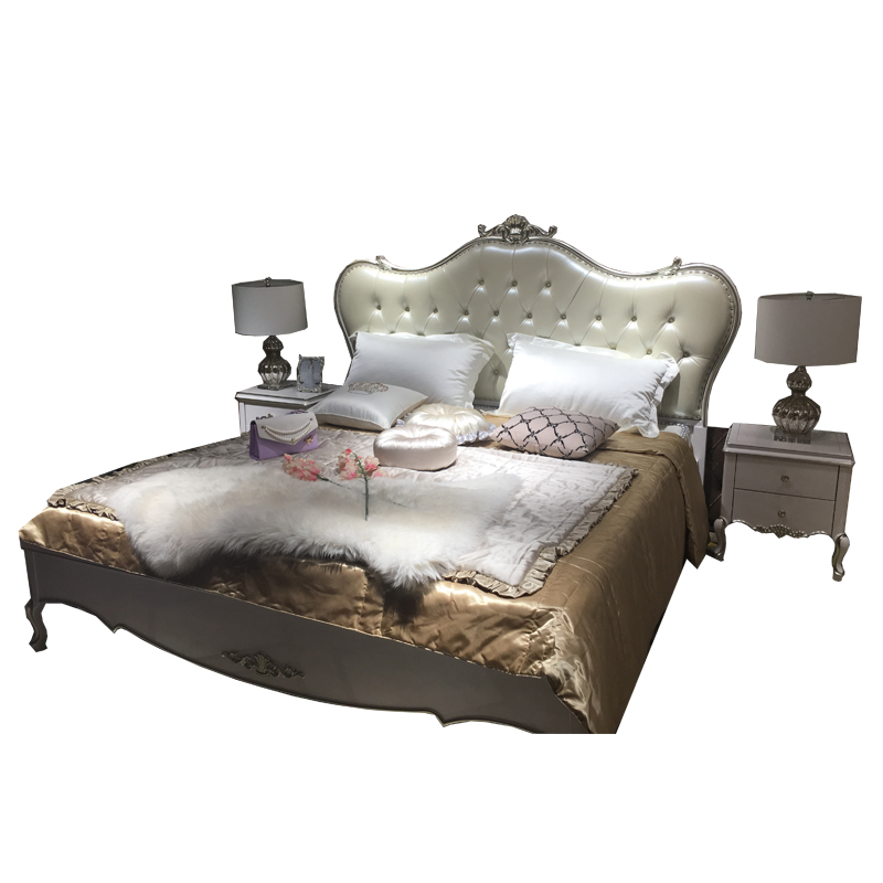 New classical bed double bed new spot Jane European simple boy girl marriage bed bed bed European orchid