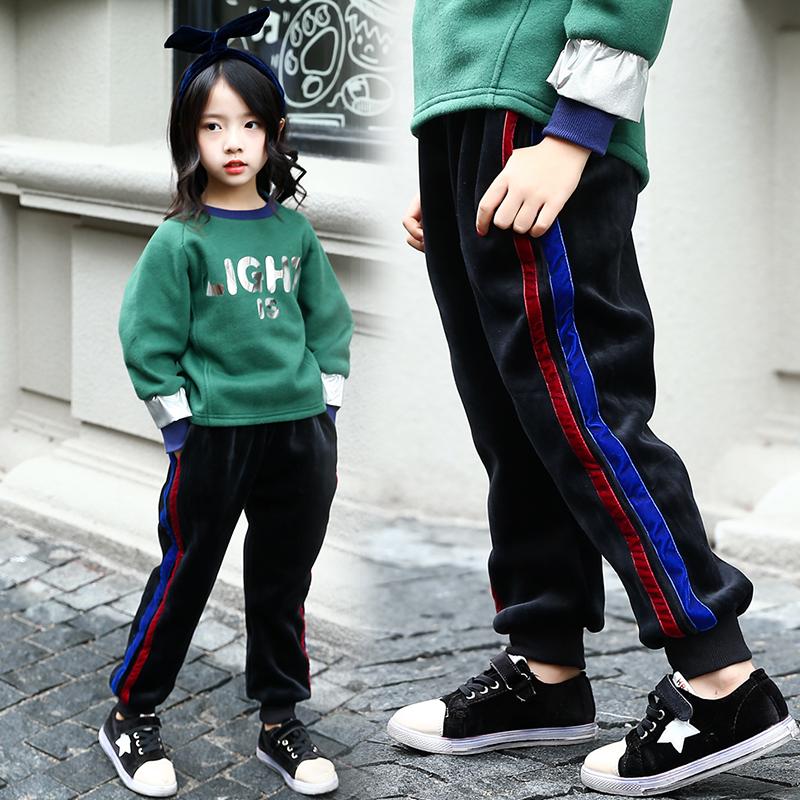 儿童休闲卫裤女童加绒
