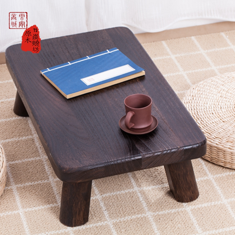 Nikko Piaochuang bed table desk burn wood table table table retro wooden table Kang several tatami
