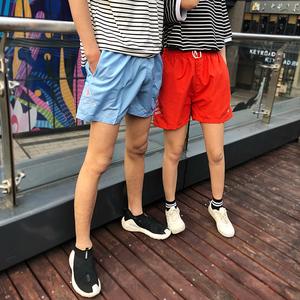 沙滩裤男亲子海边度假宽松情侣装温泉短裤女五分大码(不低25)