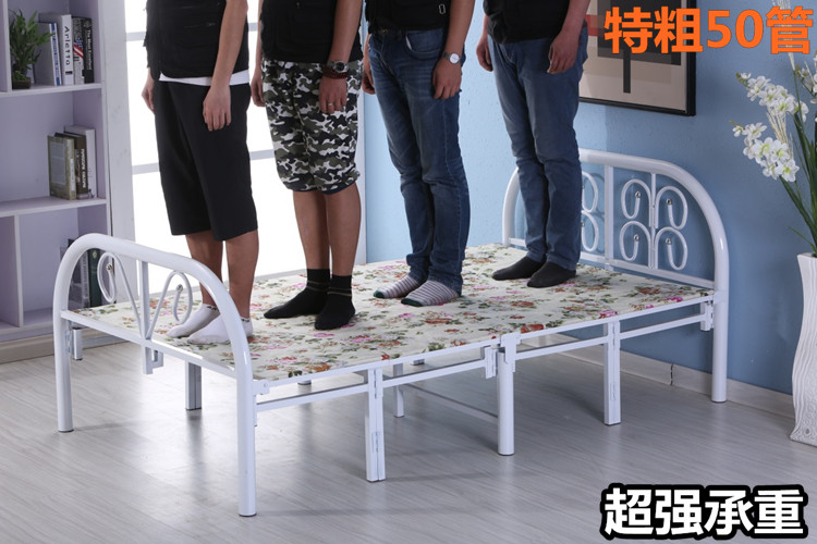 Folding bed, single bed folding bed, double folding children bed, nap bed, wooden bed, lunch bed, 1 meters, 1.5 meters bed