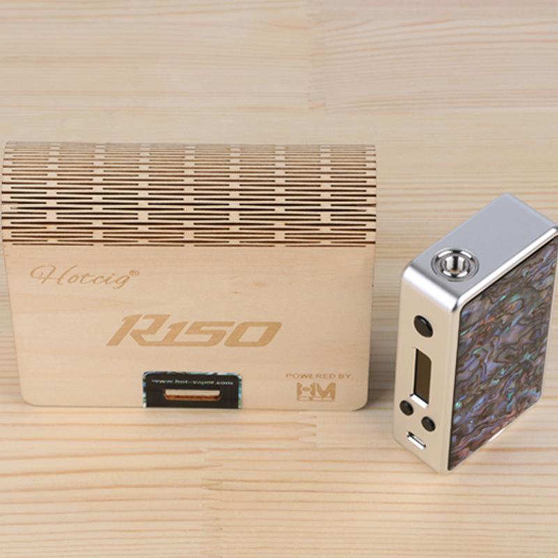กล่องควบคุมอุณหภูมิความร้อน R150 HOTCIG ปรับความดันอัตโนมัติชิปหอยเป๋าฮื้อ HM แผงเปลี่ยนบุหรี่อิเล็กทรอนิกส์