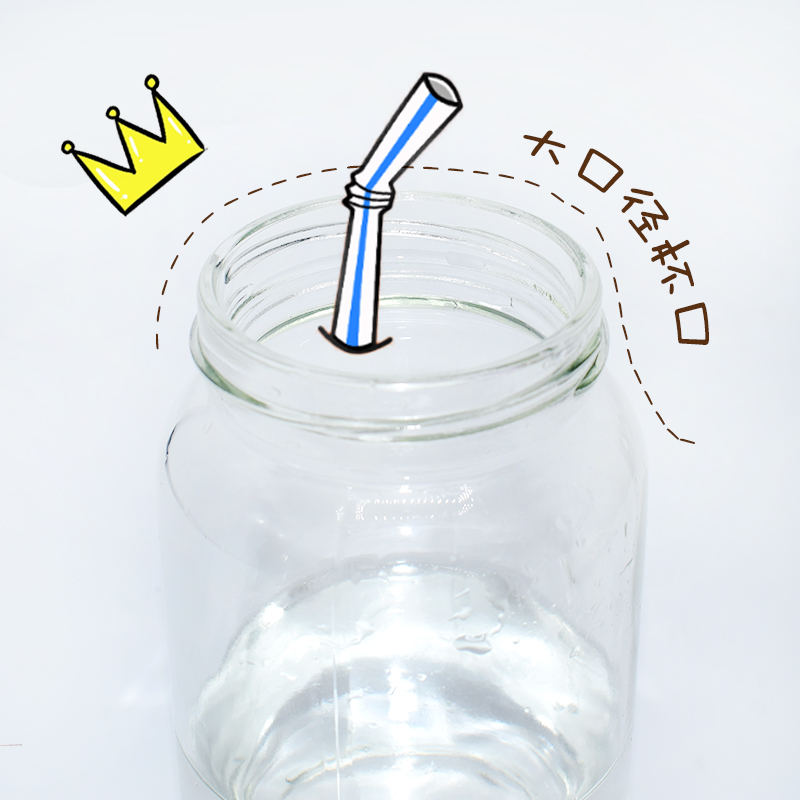 Creative tide of Korean glass portable water bottle girl student lovable Korean plate drink water cup fresh and simple