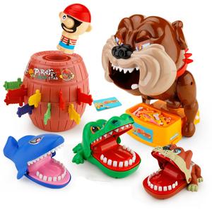整蛊海盗桶亲子聚会游戏鳄鱼咬手指咬人小心恶犬盲约同款玩具