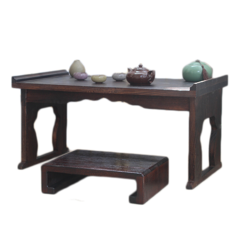 Folding table desk bed small tea table window lazy tatami custom solid wood table Ancient Chinese Literature Search learning computer desk