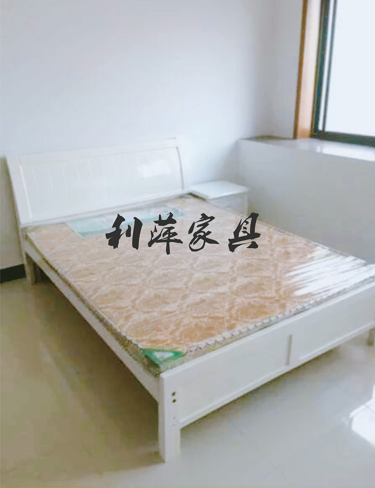 Solid wood bed double bed 1.5m meter single bed 1.2m simple modern adult solid wood bed paint bed white bed